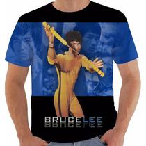 Camisa Camiseta Baby Look Regata Bruce Lee Artes Marciais