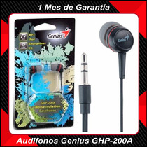 Audifonos Genius Ghp-200a, Tipo Chupón. Mp3, Celular, Tablet