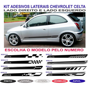 Adesivo Lateral Chevrolet Celta Prisma Sport Gm Kit