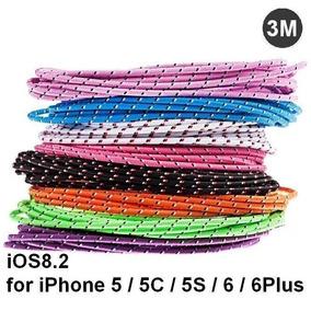 Cable Lightning Reforzado 3 Metros Iphone 5 6 Ipad Air Mini