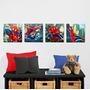 Afiches Marvel Del Hombre Araña 4 Diseños