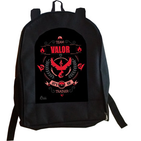Mochila Team Valor Pokemon Go Anime Manga Gamers Pikachu