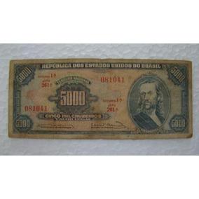 Brasil Cédula Cinco Mil 5000 Cruzeiros C 057 041 Tiradentes