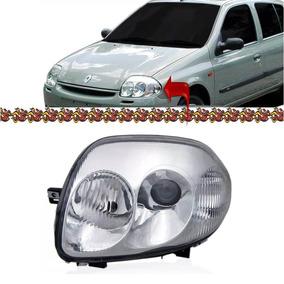 Farol Renault Clio Foco Duplo Lado Esquerdo 2000 2001 2002