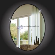 Espelho Decorativo Acrílico Oval 60x45cm Sala Banheiro