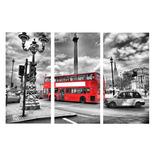 Quadro Decorativo Parede Cidades Londres Preto E Branco