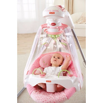 Cadeira De Balanço Fisher-price Papasan Cradle Swing, Rosa