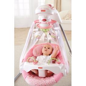Cadeira De Balanço Fisher-price Papasan Cradle Swing, Rosa