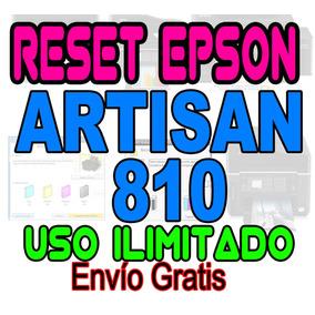 ++ Reset Oficial Epson Almohadillas Artisan 810 Garantizado