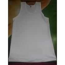 Franelillas Tipo Camiseta Blancas 100% Algodon