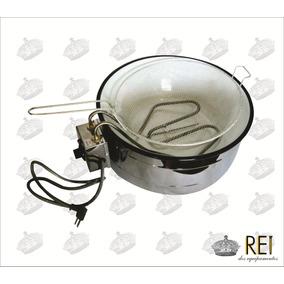 Fritadeira Elétrica 7 Litros Redonda C/ Termostato 220v
