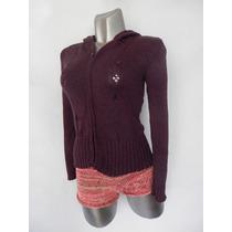 Sweater Púrpura Ropa Dama Elegante Tejido Saco Mujer Sueter