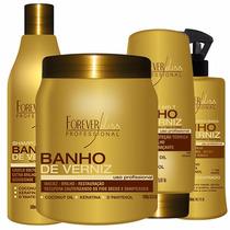 Banho De Verniz 1kg+ Kit Cauterização Restore - Forever Liss