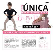 Uniforme Ballet Danza Malla Petit Glisade Falda Media Badana