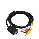 Cabo Conversor Adaptador Vga X Rca S-video Componente Pc Av
