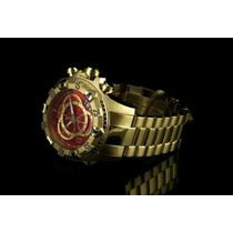 Relógio Invicta Ouro 18k 6471 Vermelho Promoção Na Caixa
