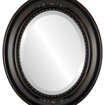 Espejo De Pared Boston Framed Oval In Rubbed Bronze, 17 X21