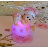 1 Bebe Poliresina Con Luz Baby Shower 1 Añito Souvenir
