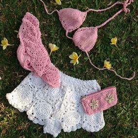 Bikinis Tops Bralette Short Y Minis Tejidos Crochet