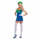 Fantasia Sexy Luigi Girl Cosplay Super Mario Festa Nintendo