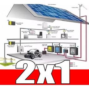 Aprende De Proyectos Generadores De Energia Eolica + Solar