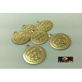 Medalhinha Medalha Moeda Cigana - 10mm - Dourado - 1000un