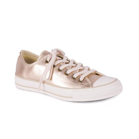 Tênis Converse All Star Ct As Mettalic Leather Ox Ouro