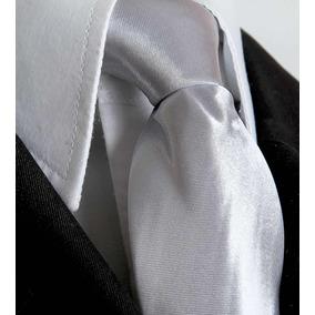 Gravata Prata Com Brilho Ternos Formatura Padrinhos