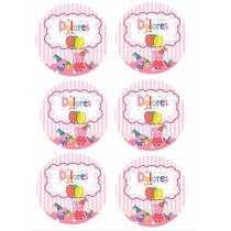 Stickers Personalizadas Candy Bar Peppa Pig 10 Chicos!!!