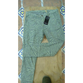 Hermoso Pantalón Tipo Jeans Animal Print Marca Zara.