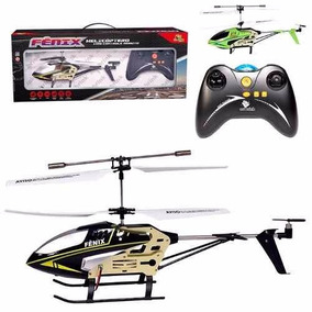 Helicóptero Grande Cont Remoto Fênix 3 Canais Com Giro C/ Nf