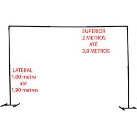 Suporte Painel Festa Tela Baloes Bexigas Estrutura 2 Pés