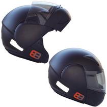 Capacete Moto Ebf E8 Articulado Robocop Promoção Preto Fosco