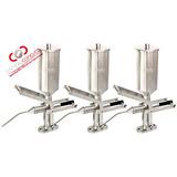 Kit Com 3 Recheadeiras De Churros Alumínio 2 Litros Ademaq
