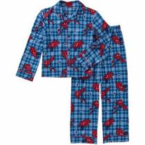 Pijama Invierno Franela Hombre Araña Importado Usa Talle 4/5