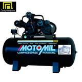 Compressor 15 Pés - 140 Libras 175 Litros Motor - Motomil