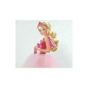 1 Topo Bolo Barbie Sapatilhas Magicas Bailarina 20 Cm