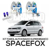 Kit Lâmpadas Super Brancas Spacefox Farol Alto E Baixo