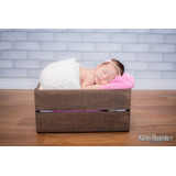 Caixote Em Madeira Para Fotografia Newborn