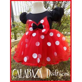 Disfraz Minnie Mouse Con Falda De Tul Y Lunares Aplicados.