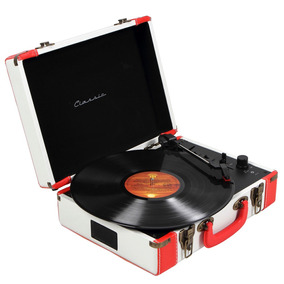 Toca-discos Vinil Retrô Executive Classic Branco 36.954 - Cl