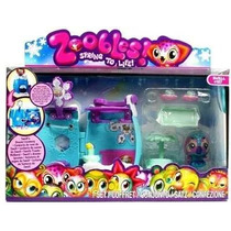 Zoobles Drop In Play Set Long Jump Swell Brinquedo