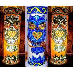Luminária Pvc Coruja Encanto Blue