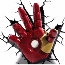 Iron Man Hand Lámpara De Noche 3d Marvel