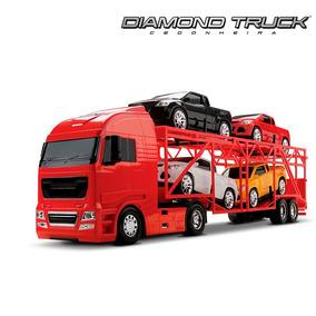 Caminhão Cegonha Diamond Truck+ 4 Pickup Cegonheira Roma