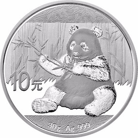 China 2017 Panda 30 Gm. Plata Pura .999 En Cápsula Original.