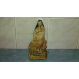 Antigua Figura Mujer Firmada En Yeso Confiteria Vallerga