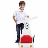 Carrinho De Rolimã F1 Herbie Junior Com Rodas Skate Branco