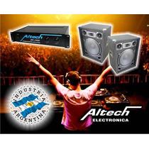Combo Potencia Altech Xp 2000 Y 2 Bafles 15-300