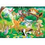 Mural Fotomural Vinil Vinilo Niños Animales Medida192x265cm